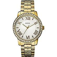 Guess - Reloj con correa de metal para mujer, color dorado