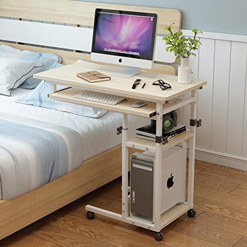 YQ WHJB Bett Pc Tisch Schreibtisch,Mobile Laptop Computer Schreibtisch,höhenverstellbar Desktop-Tisch Stand Mit Rädern Schlitz Über Bett Krankenhaus-a 60x40cm(24x16inch) - Höhenverstellbare Pc-wagen
