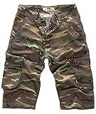 Lorenzo Loren Herren Short Jeans Shorts Camouflage Shorts Bermuda Hose Sommer Army Short Kurze Hose Sommershorts Dunkelgrün LL-391 W36