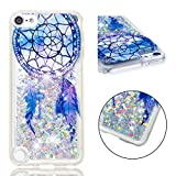 HOCORN Coque pour de ipod Touch 7/6/5 Blanc 3D Bling Glitter Sparkle Fluide Liquide...