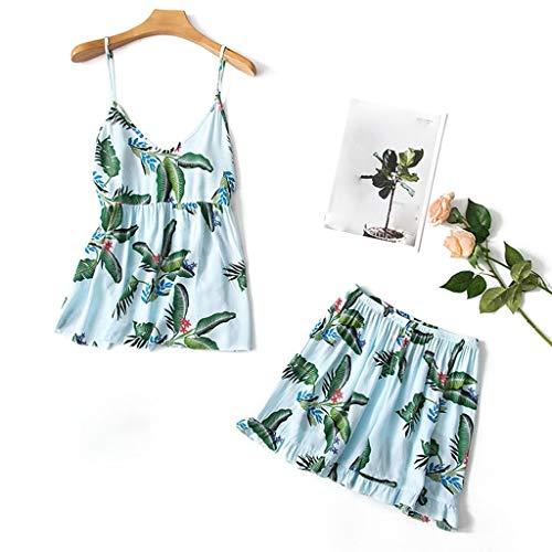 TYTUOO Womens Nachtwäsche Sommer Sexy Camis Dessous Print Nachtwäsche Unterwäsche 2PC - Tom Und Jerry Kostüm Mädchen