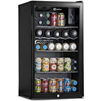 Subcold Super85 LED - Under-Counter Fridge | 85L Beer Wine and Drinks Fridge | LED Light + Lock and Key | Low Energy A+ (Black)