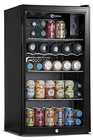 Subcold Super85 LED - Under-Counter Fridge | 85L Beer, Wine & Drinks Fridge | LED Light + Lock and Key | Low Energy A+ (Black)