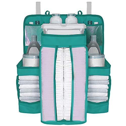 Organisator Lagerung Tasche (NAKELUCY Kindergarten-Organisator und Baby-Windel-Transportgestell, hängende Windel-Organisations-Lagerung für Baby-Wesensmerkmale Nachtlagerungs-Beutel-Paket-Beutel-hängende Windel-Tasche)