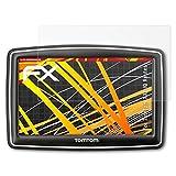 atFoliX Folie für Tomtom XXL IQ Routes Displayschutzfolie - 3 x FX-Antireflex-HD hochauflösende entspiegelnde Schutzfolie