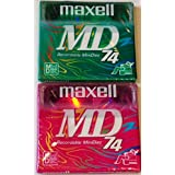 Maxell MD 74 Recordable MiniDisc Lot of 2