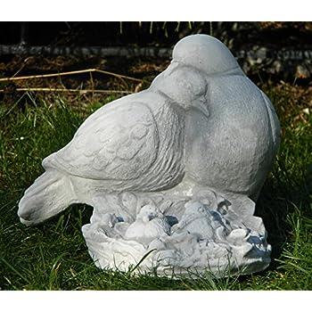 Tauben Taube verliebtes Taubenpaar Vogelpaar Steinfigur Steinguss Tierfigur Deko