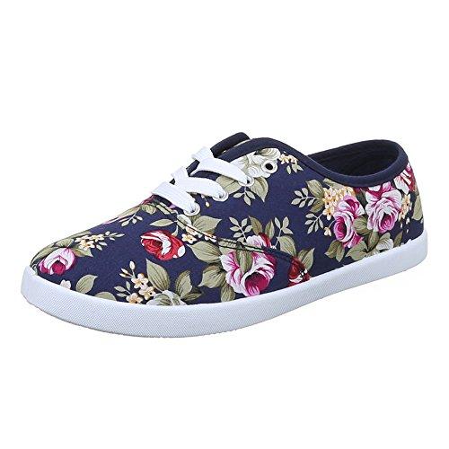 Scarpe Da Donna, C27-19, Scarpe Casual Scarpe Casual Pantofola Blu Multi