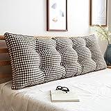 Uus Big BedHead Kissen Soft & Bequeme Rückenlehne Schöne Home Decoration Square Pattern Wasit Care Muti-nützliche Kissen 180 * 15 * 50cm (Farbe : Q)
