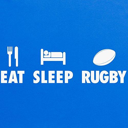 Eat Sleep Rugby T-shirt, Uomo Blu royal