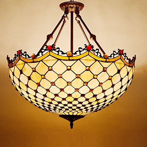Glas Bead Kronleuchter Beleuchtung Lampe (Osradmd europäischen Stil Retro kreative Gang Lichter, Schlafzimmer, Esszimmer, Balkon, Flur, Art Deco Glas, Anti hängende Lampe, 60 Perlen hängen Tail Boom)