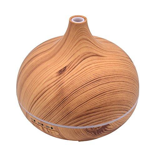 Humidificador Javpoo,Difusor ultrasónico 300ml del Aceite Esencial del Aromatherapy del Aire del humectador del Aire Difusor de aceites Esenciales ambientador humidificador para bebé hogar Oficina