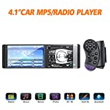 Masione Auto Radio Stereo mit Bluetooth Video und Radio in Dash mit 4,1 Zoll HD TFT Bildschirm FM Single DIN MP3 MP5 Player USB AUX Freisprechen 12 V, unterstützung für Rückfahrkamera
