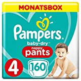 Pampers Baby-Dry Pants, Gr. 4, 9-15 kg, Monatsbox, 1er Pack (1 x 160 Stück)