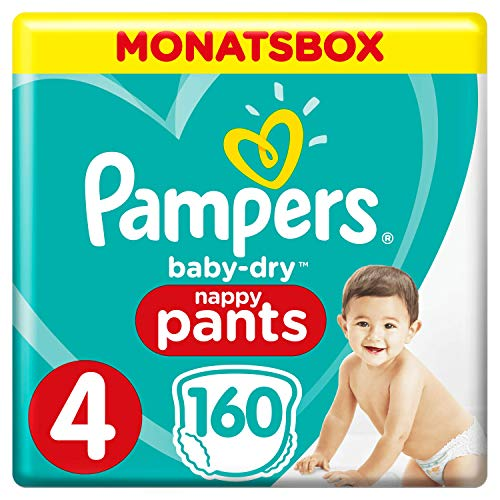 Pampers Baby-Dry Pants, Gr. 4, 9-15kg, Monatsbox, 1er Pack (1 x 160 Windeln)