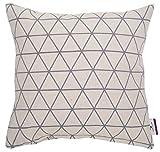 Tom Tailor 564319 T-Triangle Kissenhülle, Polyester-Baumwolle, weiß/grau, 50 x 50 x 1 cm