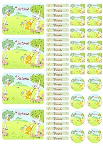 Adhesivo Nombre Pegatinas De Cuaderno Etiquetas Pegatina Hoja Pegatinas Zorro