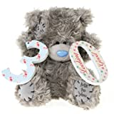 "Me to You, Tatty Teddy, Grey Teddy Bear Holding the Number 30, Sits  6"" Tall"