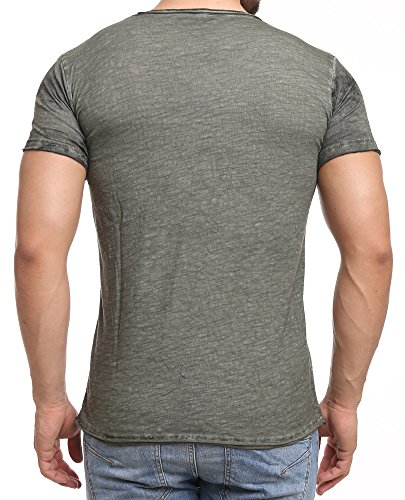 Redbridge Herren V-Neck T-Shirt M1219 Khaki