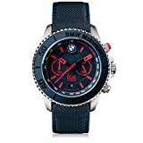 Ice-Watch - BMW Motorsport (steel) Blue Red - Blaue Herrenuhr mit Lederarmband - 001126 (Extra Large)
