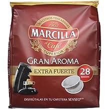 Marcilla Café Gran Aroma Extra Fuerte - 140 Monodosis compatibles con las máquinas de café SENSEO