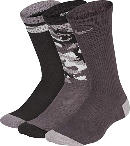 Nike Kinder Y NK Everyday CUSH Crew 3PR-GF Socks, Multi-Color, M