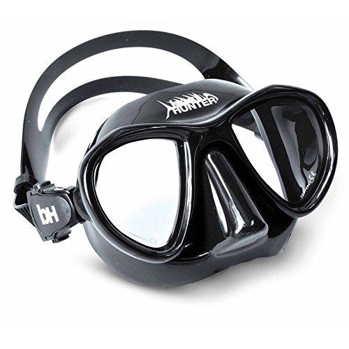 Best divers Máscara Kite, silicona, abrazadera, Negro