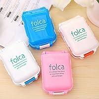 Folca Portable Pill Case Box 4 Pack preisvergleich bei billige-tabletten.eu
