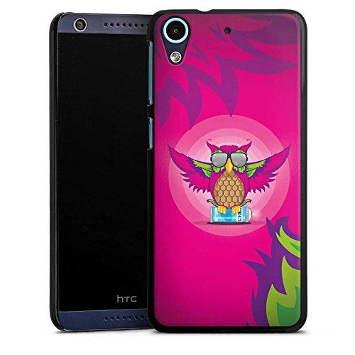DeinDesign HTC Desire 626 Hülle Case Handyhülle Eule Pink Sonnenbrille