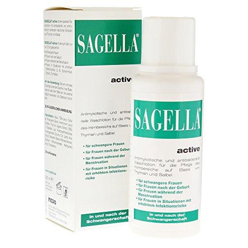 Sagella active Sparset: 2x250ml in und nach der Schwangerschaft. Antimykotische und antisbakterielle Waschlotion für die Pflege des Intimbereichs auf Basis von Thymian und Salbei