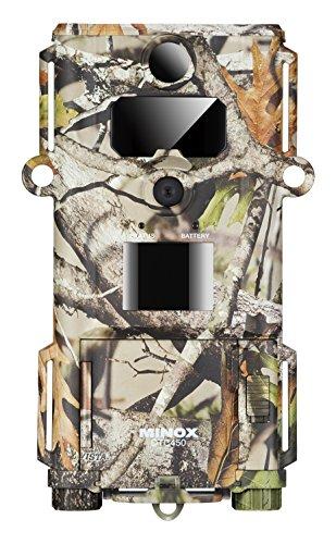 MINOX DTC 450 Slim Wild- und Überwachungskamera Camouflage - Extrem kompakte und Flache Tier-Beobachtungskamera - Bis zu 12MP Bildaufnahmen, HD-Videoaufnahmen, Display-Bildwiedergabe Camo-video-kameras