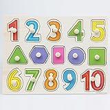 Numeri In Legno A Forma Di Spina Di Puzzle Bambino Toldder Bambini Prescolari Giocattolo