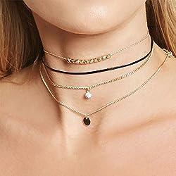 jovono collar, cadena con lentejuelas, diseño de collar para las mujeres y las niñas NK05–Pajarera