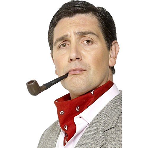 Sherlock Holmes Pfeife Detektiv Faschingspfeife als Kostüm (Kostüm Zubehör Sherlock Holmes)