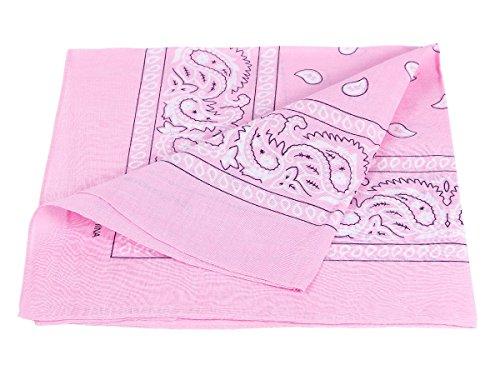 Bandana rosa paisley multifunzione classica ba-92 di colori diversi foulard scialle collo rocker biker motociclista motorcycle pirata accessorio hip hop cappellino cowboy bracciale