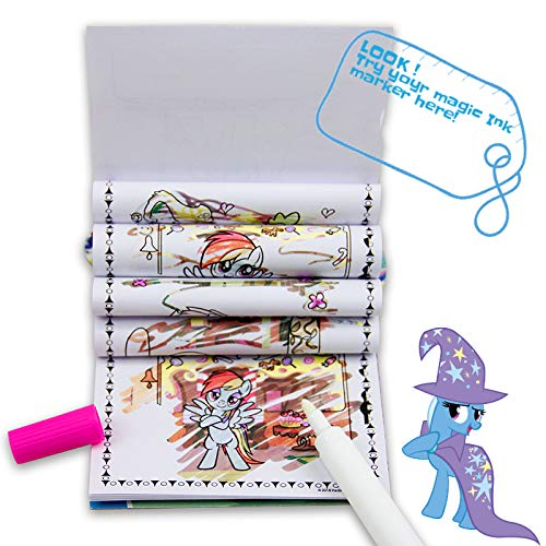 My Little Pony Premium Grade Magic Ink Reveal 1 Coloring Book of 24 Pages with 1 Mess Free Magic Ink Marker Great Combo for Kids (Pack of 3)