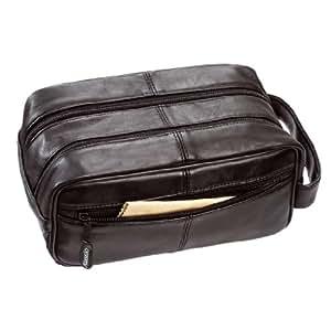 ALASSIO Trousse en cuir véritable/44000env. 25x 13x 10cm Noir
