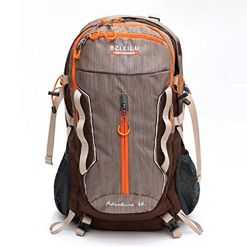 LJ&L Outdoor Bergsteigen Tasche, Nylon Material praktische Verschleiß-resistent, Reise-Rucksack, 40-Liter-Hochleistungs-Multifunktions-Paket Männer und Frauen universal B