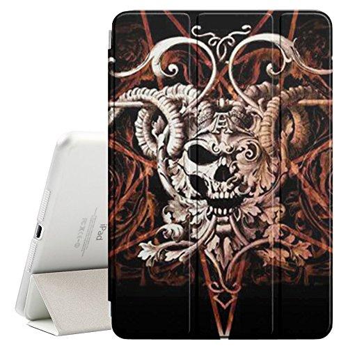 YOYOcovers [ FOR iPad Mini 2 / 3 / 4 ] Smart Cover con funzione del basamento di sonno - Horns Devil Pentagram Death Skull