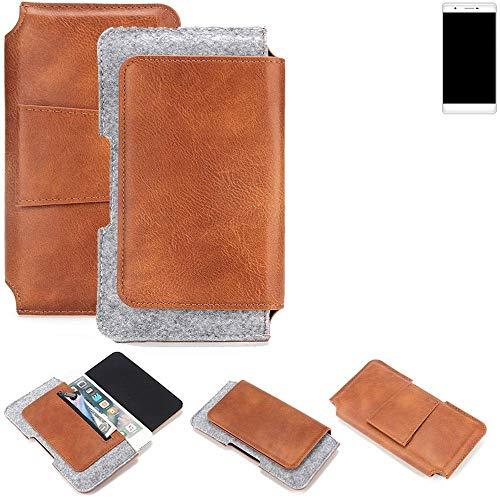 K-S-Trade Gürteltasche für Phicomm Passion 2S Gürtel Tasche Schutz Hülle Hüfttasche Belt Case Schutzhülle Handy Hülle Smartphone Sleeve aus Filz + Kunstleder (1 St.)