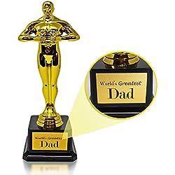 The Twiddlers Trofeo de regalo con texto en inglés Dads», grabado con el mejor papá del mundo en la base, regalo perfecto para el día del padre, cumpleaños y Navidad