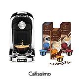 Tchibo SAECO Cafissimo TUTTOCAFFÈ Nero inkl. 90 Kapseln – Kaffeemaschine (für Kaffee, Espresso, Caffè Crema und Tee)