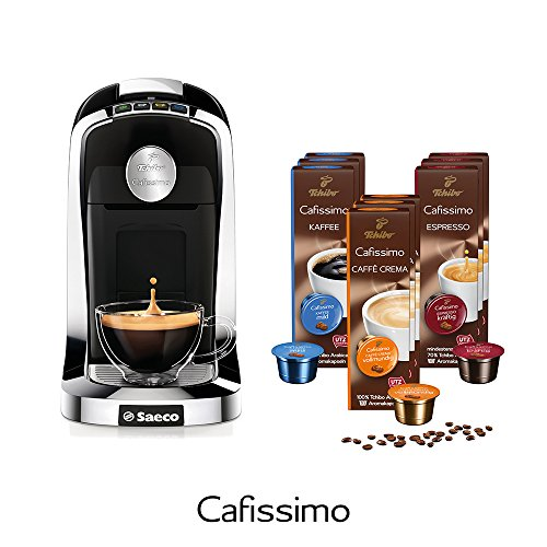 Tchibo Saeco Cafissimo Tuttocaffè Kaffee Kapselmaschine inkl. 90 Kapseln, Nero