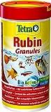 Alimento básico Tetra Rubin (para peces ornamentales, para un colorido intenso con potenciadores del color naturales, más alimento prebiótico para mejorar las funciones del cuerpo y la conversión alimenticia), diferentes tamaños