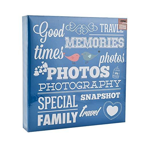 ARPAN Ringbuchalbum für 500 Fotos à 10 x 15 cm, Blau, Karton, 34 x 4 x 33 cm