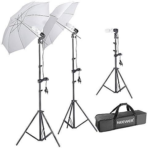 Neewer® Parapluie Kit Éclairage de Lumière de Jour pour Photographie de Portrait, y Compris 2* (Le Studio)