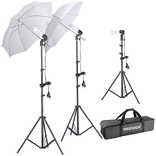 Neewer® Fotografia Foto Ritratti Day-Light Studio Ombrello Illuminazione Kit, kit include: (2) 75