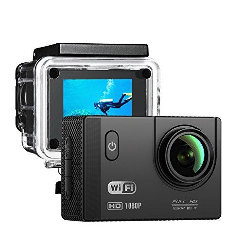 Batterie Supplémentaire Fournis  Caméra Sport WIFI TopElek Caméra action  WIFI Full HD 12MP Etanche 30M Caméra Embarquée avec Application gratuite  pour ... 99379551d969
