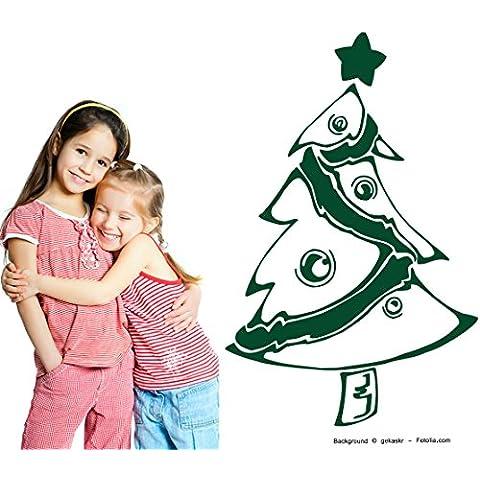 Adesivo da parete albero di Natale Christmas Tree Christmas quadro da parete, Vinile, Ortensia viola, (Ortensia Albero)