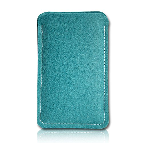 Filz Style Apple iPhone 6 / 6S Premium Filz Handy Tasche Hülle Etui passgenau für Apple iPhone 6 / 6S - Farbe rosa türkis